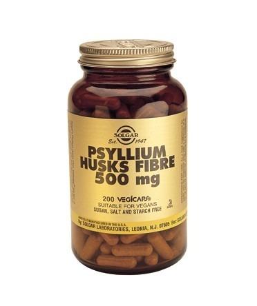Solgar Psyllium Husks Fibre 500mg Vegicaps 200 Capsules