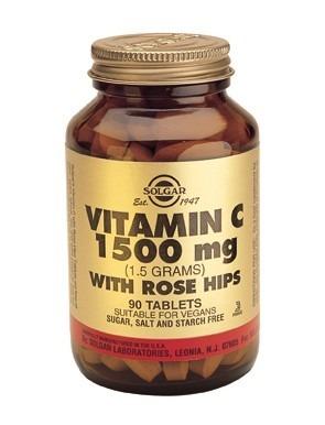 Solgar Rose Hips C 1500mg 90 Tablets