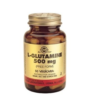 Solgar L-Glutamine 500mg Vegicaps 50 Capsules