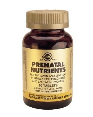 Solgar Prenatal Nutrients 120 Tablets