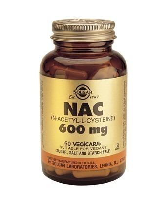Solgar N-Acetyl L-Cysteine (NAC) 600mg Vegicaps 60 Capsules
