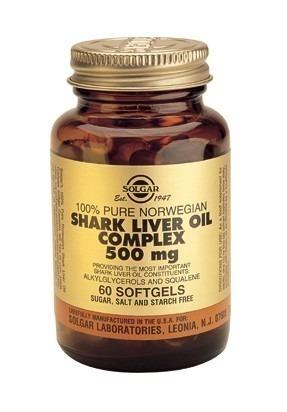 Solgar Shark Liver Oil 500mg Softgels 60 Capsules