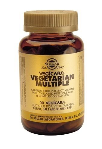 Solgar Vegetarian Multiple Vegicaps 90 Capsules