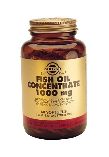 Solgar Fish Oil Concentrate 1000mg Softgels 120 Capsules