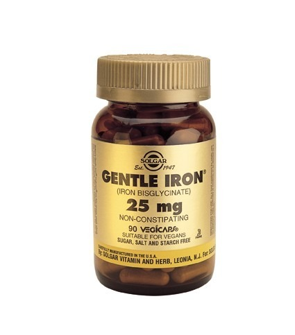Solgar Gentle Iron 25mg Vegicaps 90 Capsules