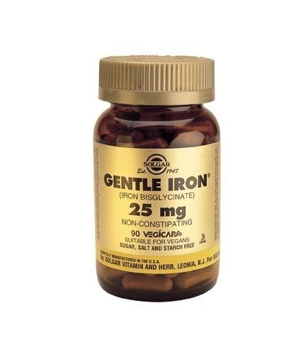 Solgar Gentle Iron 25mg Vegicaps 180 Capsules