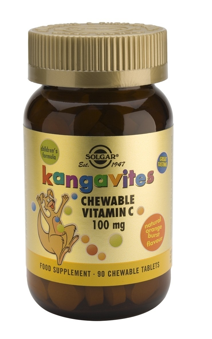 Solgar Kangavites Vitamin C 100 mg Chewable 90 Tablets