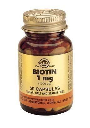 Solgar Biotin 1000 Mcg (1mg) 50 Capsules