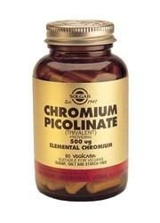 Solgar Chromium Picolinate GTF Yeast Free 500mcg 60 Capsules