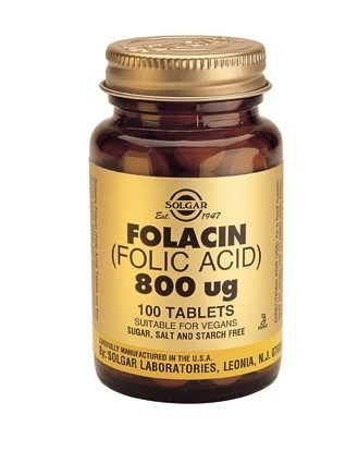 Solgar Folic Acid 800mcg 100 Tablets