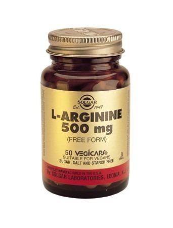 Solgar L-Arginine 500mg Vegicaps 50 Capsules