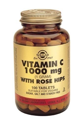 Solgar Rose Hips C 1000mg 100 Tablets