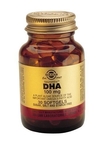 Solgar DHA (Docosahexaenoic Acid) 100mg Softgels 30 Capsules
