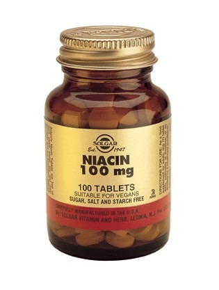 Solgar Niacin 100mg (Vitamin B3) 100 Tablets