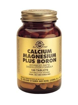 Solgar Calcium Magnesium Boron 100 Tablets
