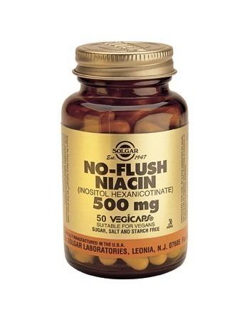 Solgar No Flush Niacin (Vitamin B3) (Inositol Hexanicotinate) 50 Capsules
